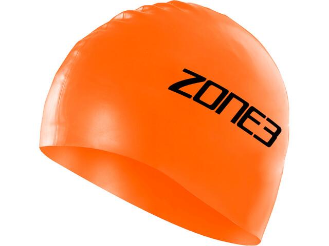 Zone3 Silicone Schwimmkappe hi-vis orange